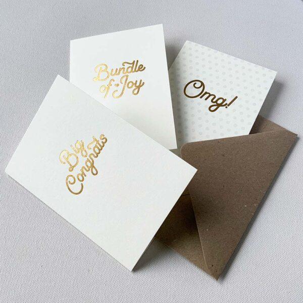 Gold Foil Congratulations cards